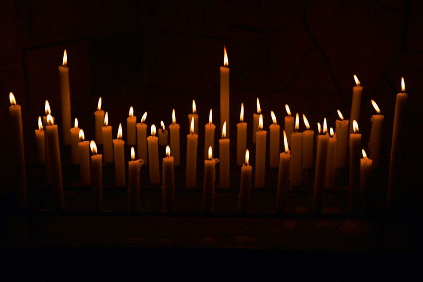 Flame Fire Burning Candle Belief Religion Illuminated Spirituality Place Of Worship No People Glowing Dark