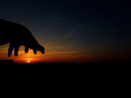 I'm gonna get you sun Sunset Silhouette Nature Beauty In Nature Sky No People Scenics Desert Night Outdoors