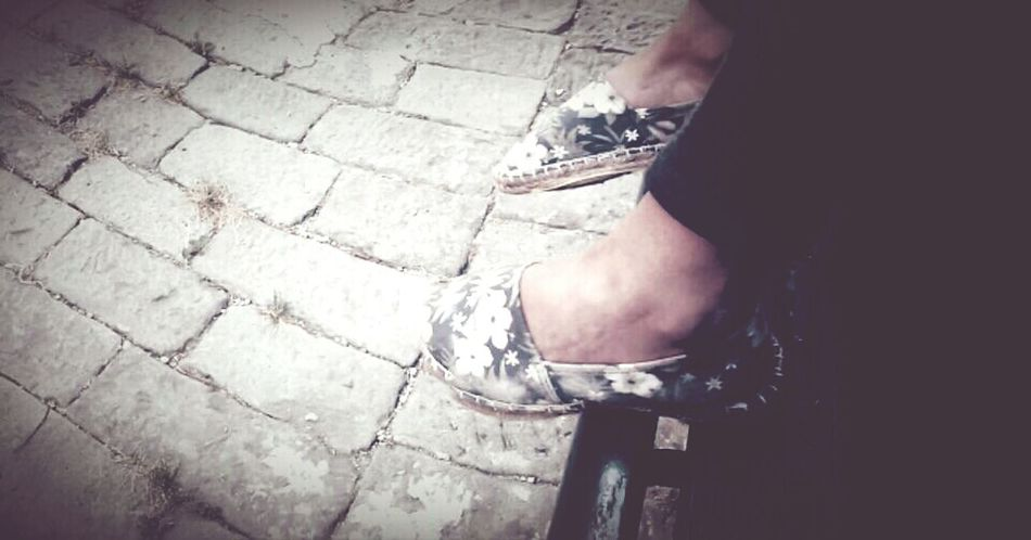uno, due, tre, quattro, cinque, dieci, cento passi...Espadrillas ♥ Flawers Blueandwhite Taking Photos... Blue White New Shoes! Summertime Likes Details