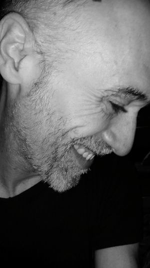 Not a great smile...let's say it's a start... One Man Only Human Face Headshot EyeEm Selects B&w EyeEm Blackandwhite Trying To One Person ThatsMe That's Me Black And White The Week On EyeEm Human Body Part Human Condition Portrait Close-up Real People