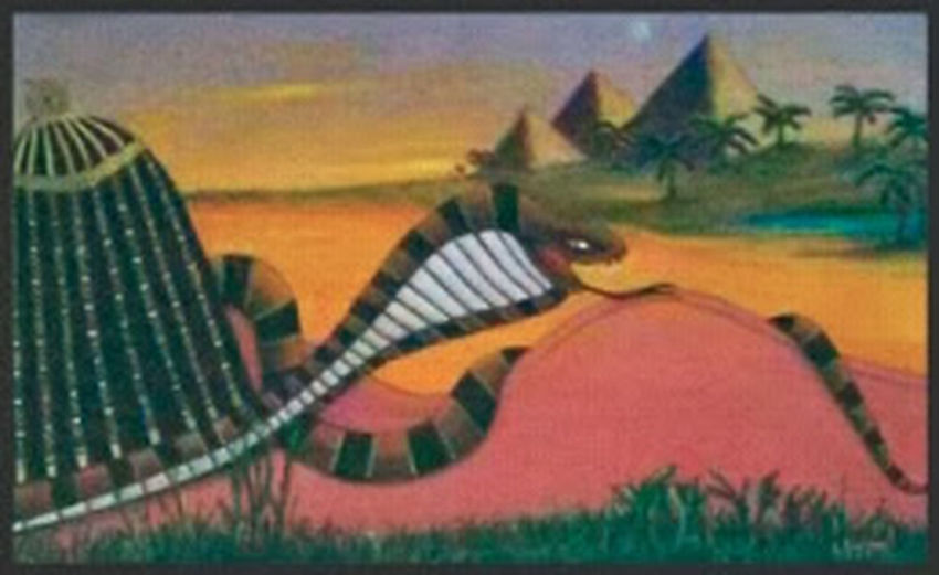 Cleopatra and The Cobra, original oil painting by E. Giupponi Art