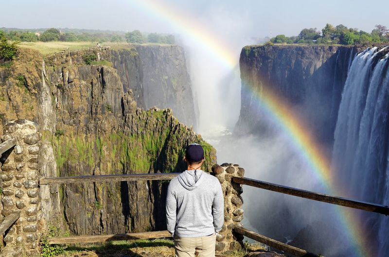 Contemplation Livingstone  Nature Travel Photography Wonders Of The World Zambia Rainbow Victoria Falls Waterfall A New Beginning