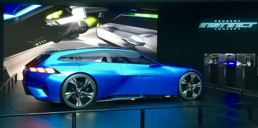 Blue Cars Conceptcar Future Passion Peugeot Salon Auto Geneve Transportation Vehicle