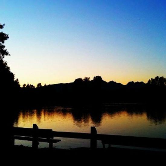  Good Night! Summer Sunset Reflection Bluesky 여름 호수 석양 하늘 夏 空 夕日 夕陽 comolake lake coquitlam vancouver bc canada instagram photooftheday teg statigram yellow orange instakr dicadong iphone blue iphoneography iphone4