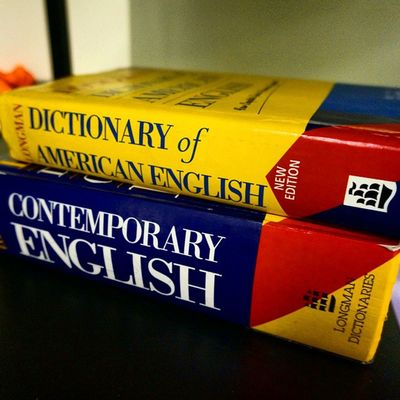 English America Study Dictionary Yellow Blue