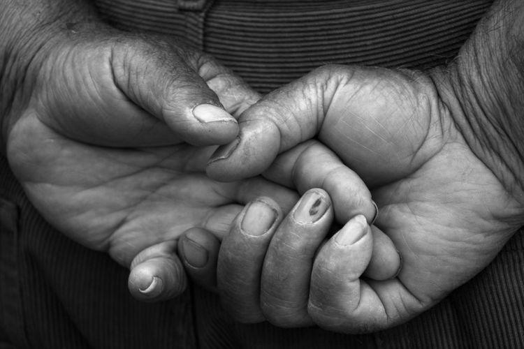 grandpa hands Hands Hard Work Nails Palm Worker Adult Body Part Care Crossed Fingers Finger Fingers Grandpa Hand Human Body Part Human Hand Real People Togetherness Women Wrinkled