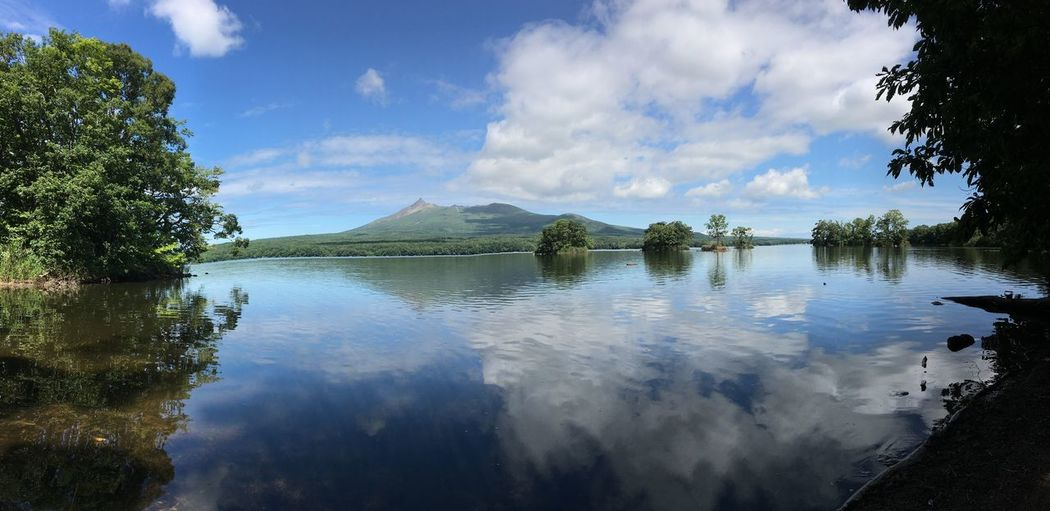 Panoramic view of lake against sky
