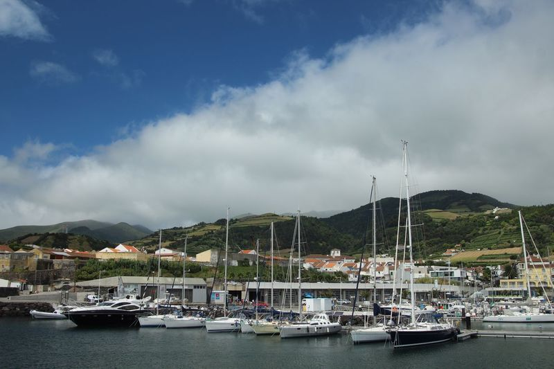 Harbor View Nautical Vessel Transportation Mode Of Transportation Sky Cloud - Sky Water Mountain