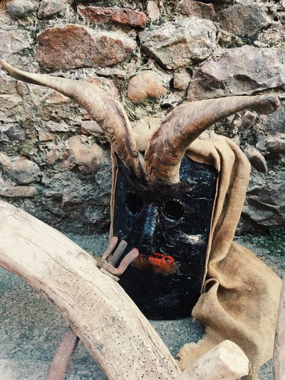 Carnival Crowds And Details Close-up Wood - Material Mask Carnival Primitive SPAIN LeonEsp  Horns No People Outdoors Traditional Antruejo Rustic