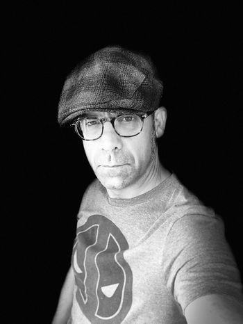 #selfie Portrait Looking At Camera Black Background Indoors  One Person Studio Shot Headshot Men Front View Glasses Close-up Eyeglasses