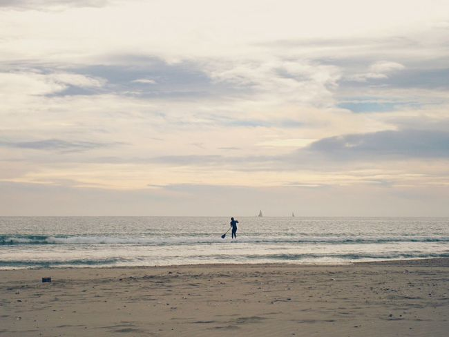 Beach Palavas-les-Flots Montpellier On The Beach Paddleboarding