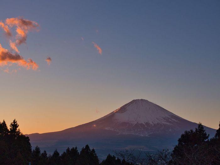 Mt. Fuji sunset from the east side. Simple Quiet Love Amazing Shizuoka Japan Shizuoka M.ZUIKO DIGITAL OM-D E-M5 MarkⅡ Olympus EyeEm Nature Lover EyeEm Best Shots No People Outdoors Orange Color Scenics - Nature Scenics Tranquil Scene Tranquility Beauty In Nature Nature Sky Sunset 富士山 Mt.Fuji Mountain