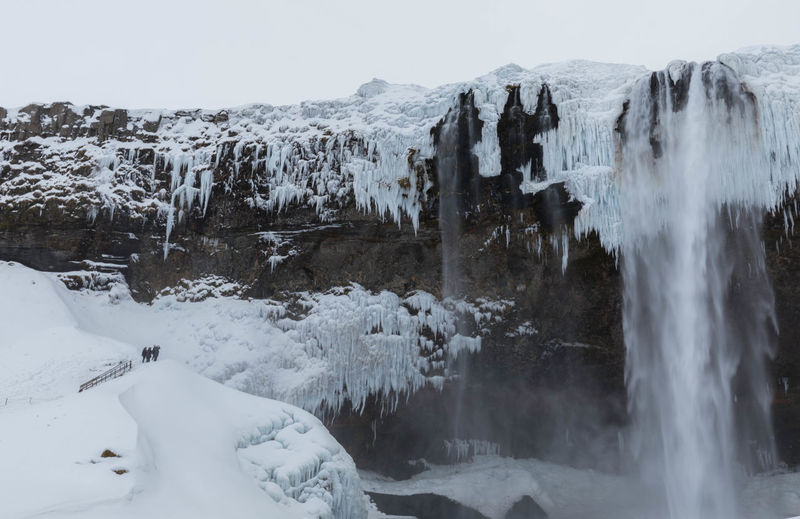 Iceland Icicles Long Exposure Shot Beauty In Nature Cold Temperature Day Ice Nature Outdoors Rock - Object Snow Tranquil Scene Water Waterfall Winter