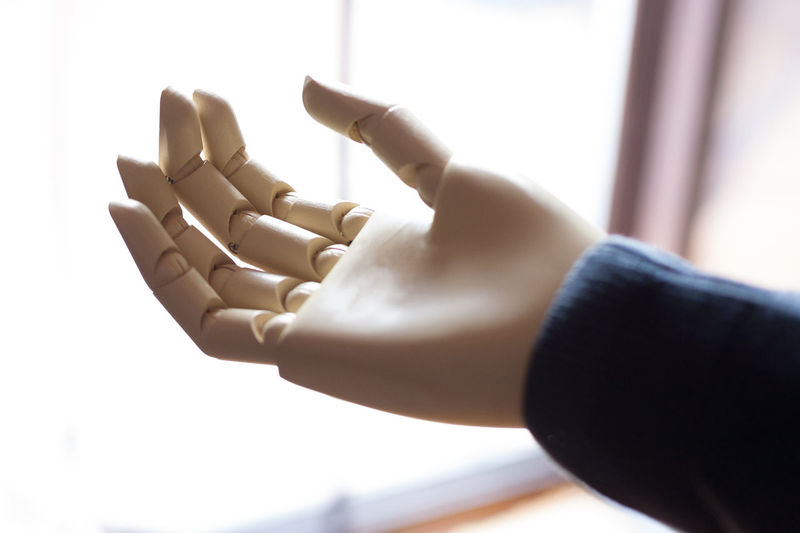 Close-up of robot hand