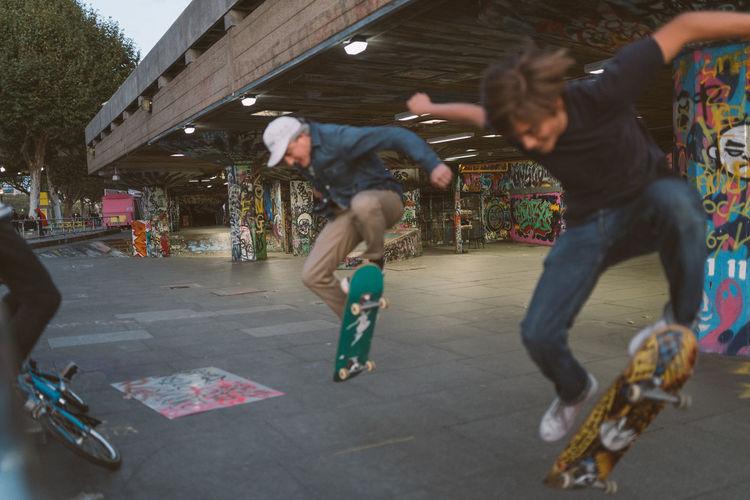 Dark Graffiti Skateboarding Skatepark Boy Day Father Kick Flip Lifestyles Men Outdoors People Real People Skate Skateboard Skater Son Adventures In The City The Street Photographer - 2018 EyeEm Awards