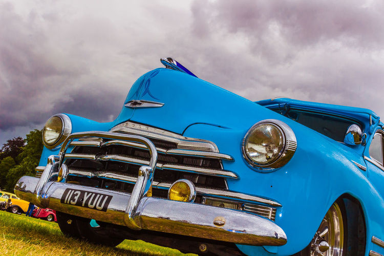 Car Car Show Chrome Custom Cars Front End Grill Headlight Hot Rod Sky Stormy