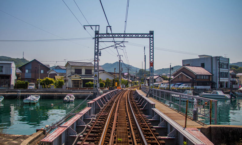 Architecture Diminishing Perspective Hiroshima Japan Japan Photography Leading Lines On The Way Port Tadanoumi The Way Forward Town Tracks Train Tracks Hidden Gems  Traveling Home For The Holidays Miles Away