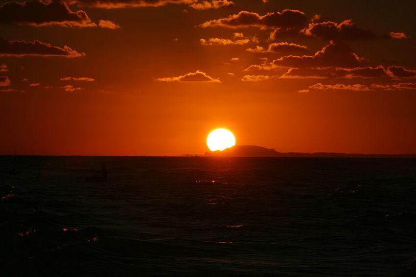 Art Beauty In Nature Horizon Nature No People Orange Color Sea Silhouette Sky Sun Sunset Ysa Ysa Art