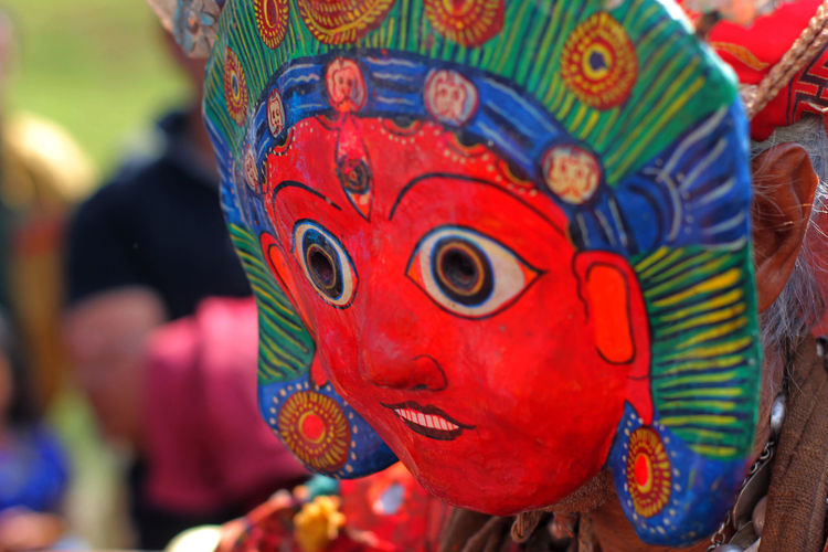 Art Carving - Craft Product Close-up Colorful Creativity Depth Of Field Masked Man Portrait Sikali Jatra Tradition The Portraitist - 2016 EyeEm Awards Color Palette