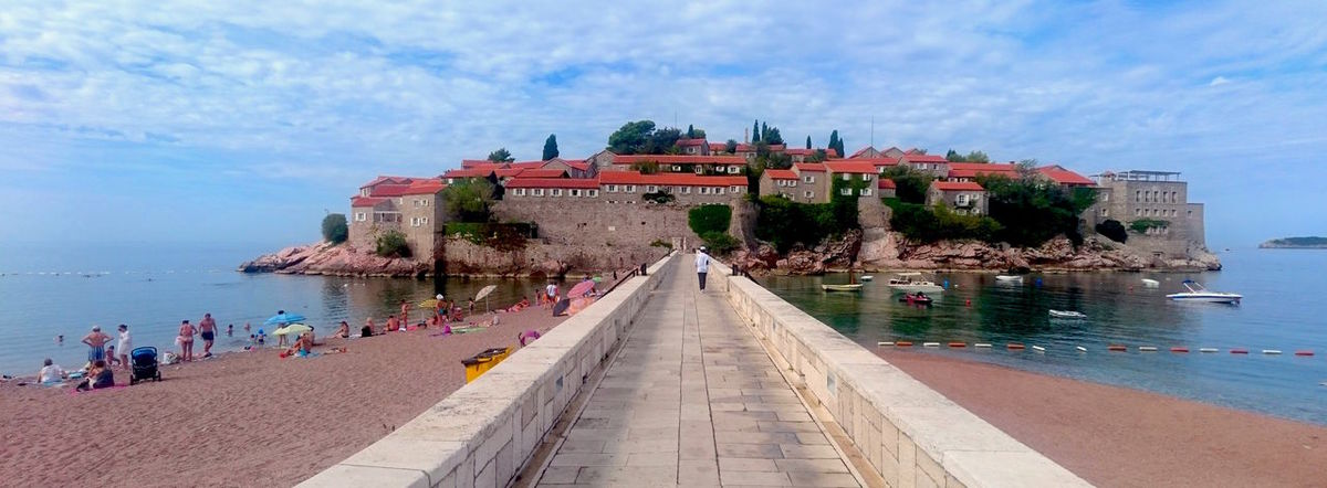 Architecture Croatia Cultures Day Eastern Europe Historic Historic Building History Hotel Island Landmak Panoramic Sea Sky Sveti Stefan SvetiStefan Tourism Travel Destinations Water