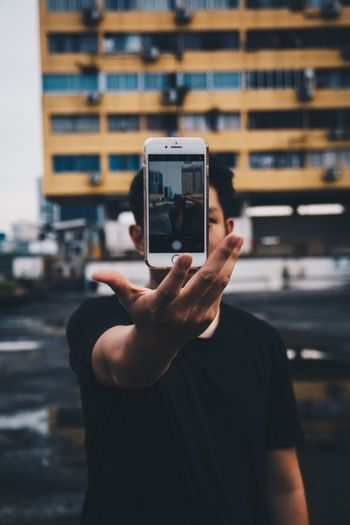 Selfie // Photography Themes Photographing Wireless Technology Portable Information Device Selfie Mobile Phone Communication Photo Messaging Technology Holding Focus On Foreground Self Portrait Photography Human Hand Real People Camera - Photographic Equipment Indoors  One Person Close-up Day EyeEm Selects