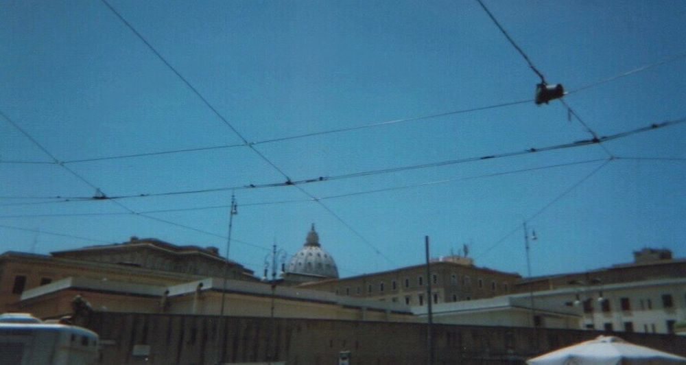 i like this one too Vatican Building Exterior Built Structure Architecture Cable Sky Electricity  Connection