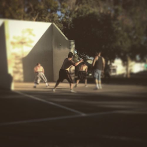 Hot summer days in Northern Cali are spent playing Handball