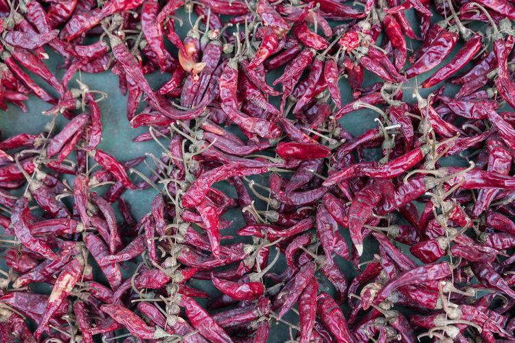 Full frame shot of red peppers