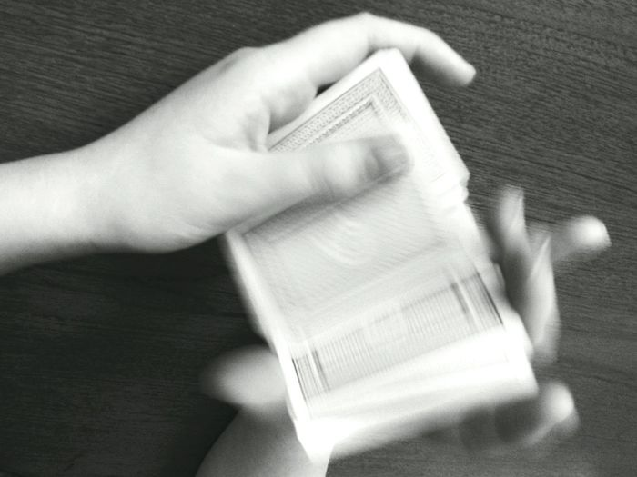 Speed shuffle. Grainy Textures And Surfaces The Weekend On EyeEm Showcase: January Light And Shadow Better Look Twice Hands Hands At Work Shuffle Shuffling Cards Playing Cards 21 Game Playing Motion Gangsters Paradise EyeEm Best Shots Dealing Black And White Blur Monochrome Card Game People Blurry