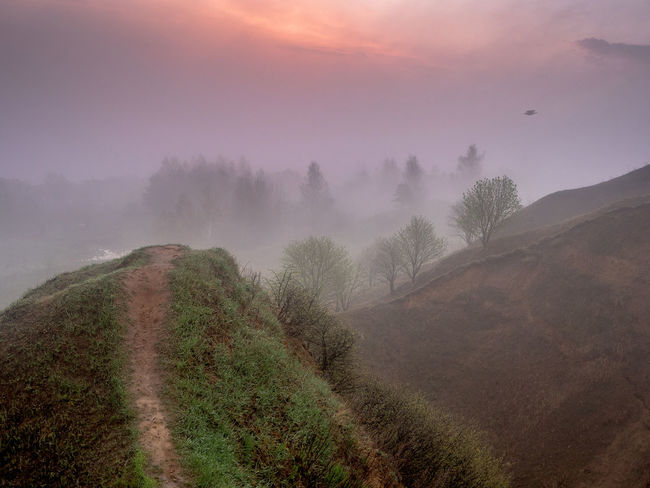 Russia, Oka river, fog, early morning Russia Beauty In Nature Cloud - Sky Early Morning Environment Fog Grass Idyllic Land Landscape Mountain Nature No People Non-urban Scene Oka River Outdoors Plant Scenics - Nature Sky Tranquil Scene Tranquility Tree