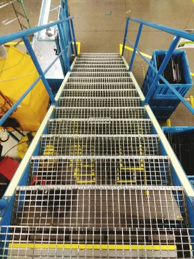 High Angle View No People Outdoors Cage Day Metal Sters Industry Downt Sters Down Under Water