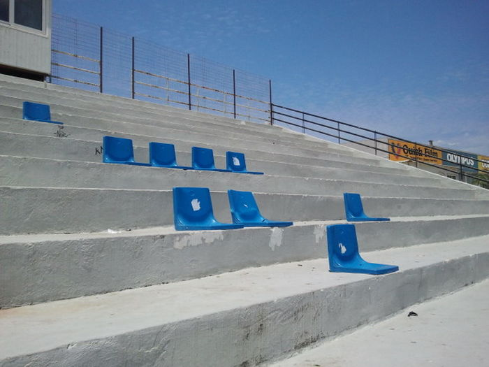 Sit down,please. Football Olympic Stadium Track And Field Verfall Crowd Decaying Building Empty No People Outdoors Seat Soccer Sport Sports Stadion Track And Field Stadium Watching
