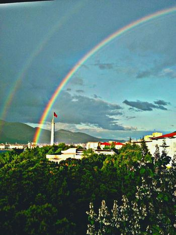 Rainbow Flag Turkishflag Sky First Eyeem Photo Nature Nature_collection Colorful Colors