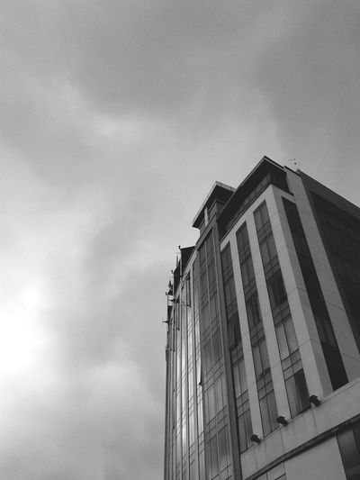 It was a Cloudy Nice-weathered Day to nap on bed. Looking Up To The Sky. The place called Hometown. Kuching. Sarawak. Black And White. Landscape. SMinPhotography