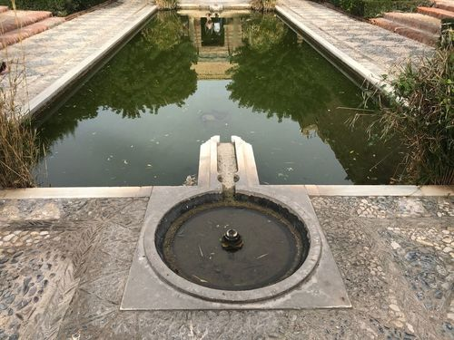 Reflejo de un alma Arquitecture Musulmans Almería Iphone7 Water Reflection Day High Angle View Shape Geometric Shape No People Nature Built Structure Fountain Architecture Reflection Fountain Waterfront Standing Water Circle Nature Lake
