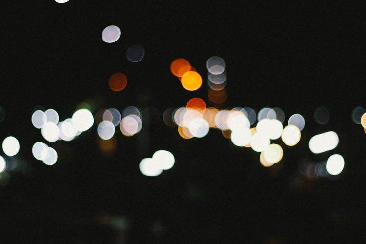 Bokeh Close-up Defocused Horizontal Nature Night No People Outdoors Sky Tree