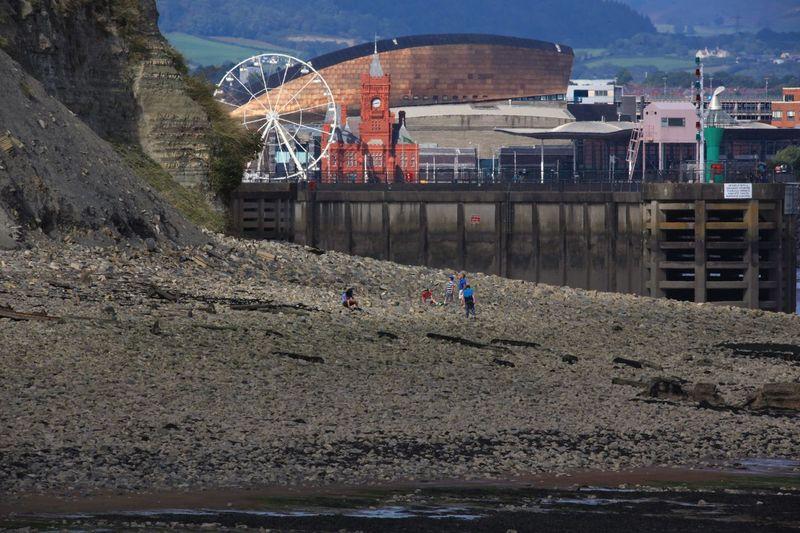 Cardiff Bay from Penarth pier Cardiff Bay Cardiff Cardiff Bay Barrage Wales Millennium Center Walesonline Wales Landscape