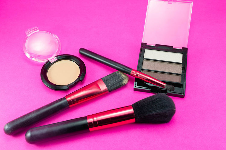 High Angle View Of Beauty Product On Table