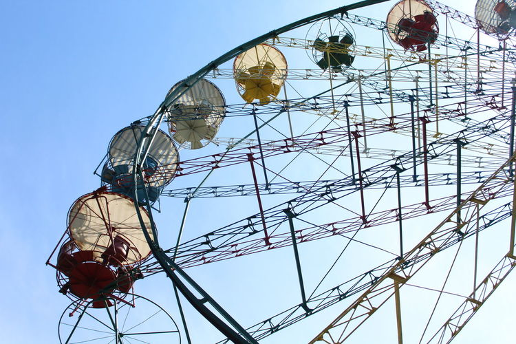 Amusement Park Amusement Park Ride Arts Culture And Entertainment Big Wheel Clear Sky Close-up Day Ferris Wheel Low Angle View No People Outdoors Sky The Street Photographer - 2017 EyeEm Awards Fresh On Market 2017