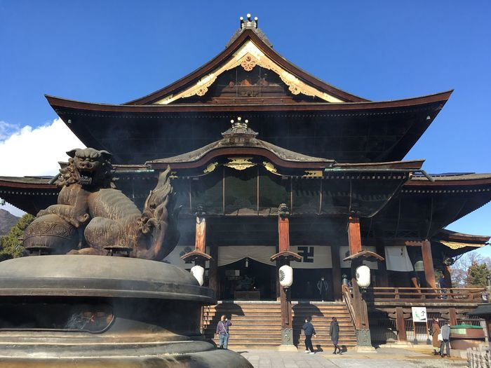 Zenkoji Temple Architecture Religion Place Of Worship Sky Building Exterior Nature Travel Destinations Outdoors Spirituality