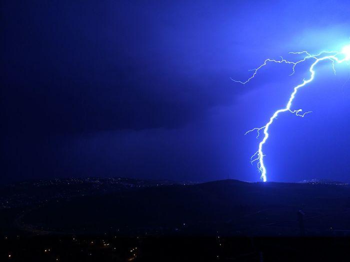 Lightning in the dark