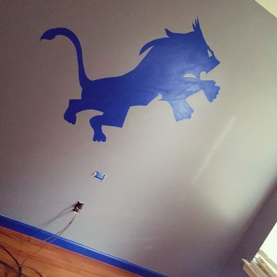 All I have to do now is add the fine detail but Christian's room is otherwise finished. DetroitLions Lions @detroitlionsnfl Megatron OnePride