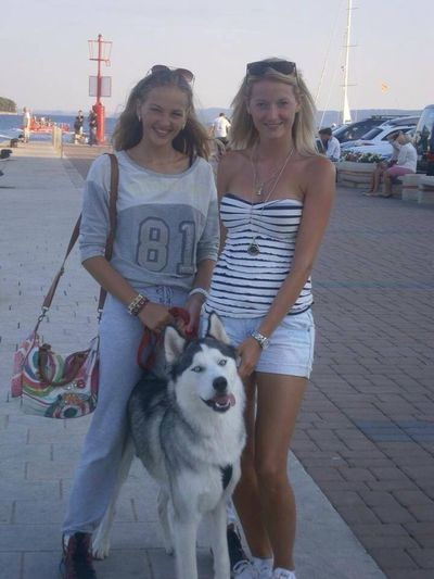 Sister Dog and me❤️ Malou  Siberian Husky in croatia ❤️❤️ #rab