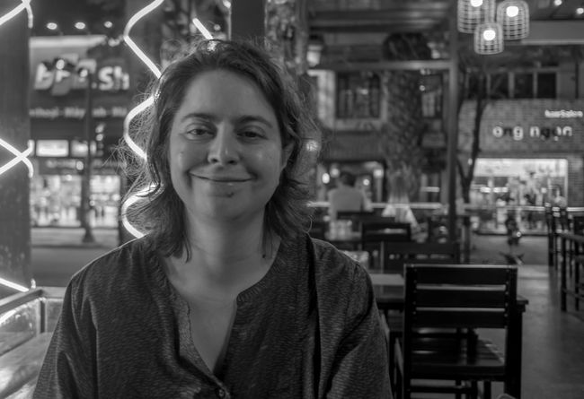 Kate, Happy Hour, Huế, Vietnam Portrait One Woman Only Black And White Monochrome Photography FUJIFILM X-T2 Vietnam Huế Monochrome Kate