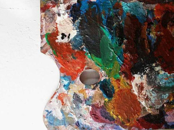 Colorful Pallete Art Acrylic Colorsplash