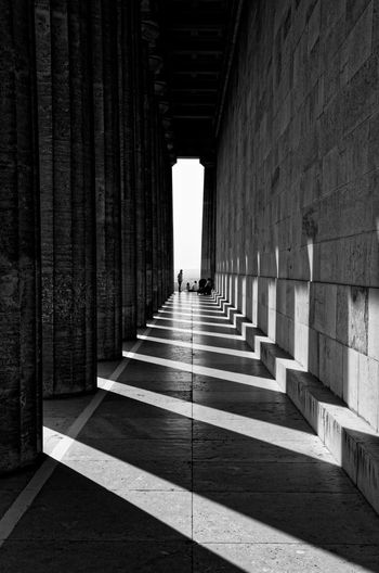 Walhalla Architecture Built Structure Direction The Way Forward Sunlight Architectural Column Shadow
