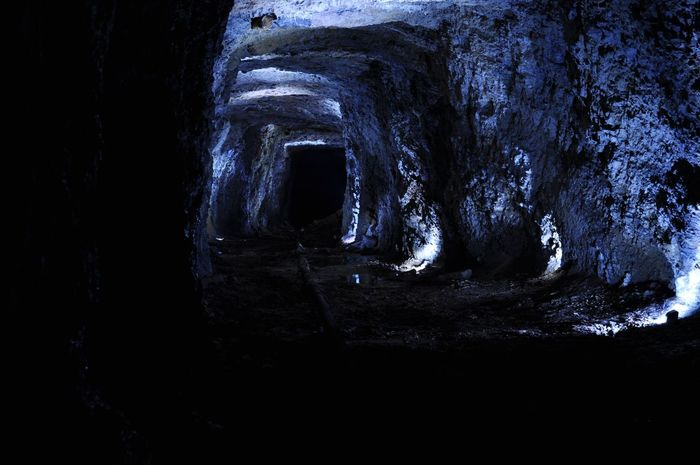 Amazing Beautiful Color Day Er EyeEm Gallery Indoors  Lost Lostplaces Nature No People Subterranean Subway Tunnel Underground Urbexphotography Europe WW2 Memorial Darkness And Light Darkness Dark Tunnel Vision Blue Blue Color Untertage