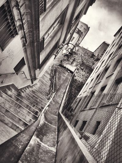 B&w Street Photography Lyon Lyon Croix-Rousse Stairs Escaliers Perspectives First Eyeem Photo