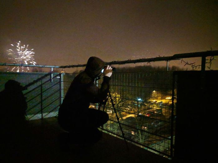 Let us all hope new year will be a blast! Taking Photos Of People Taking Photos Fireworks Illuminated Working City Spraying Sky
