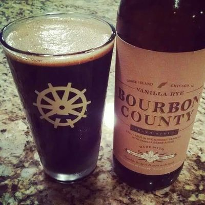 Once a year release of this aged craft brew. Bourbon County Taking Photos Craftbeer Bourboncounty Gooseisland Vanillaryestout Stout